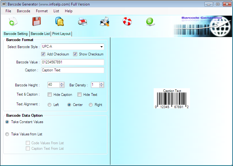 Barcode Label Maker Screenshot